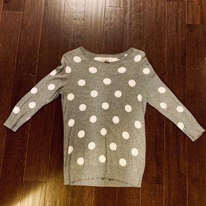 Banana Republic Grey Polka Dot Sweater Sz: MED